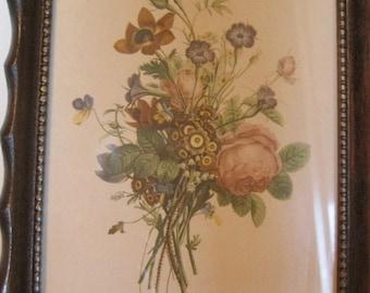 Jean-Louis Prevost Print, Floral Print, Small Framed Print, Botanical Print, Vintage Floral Print