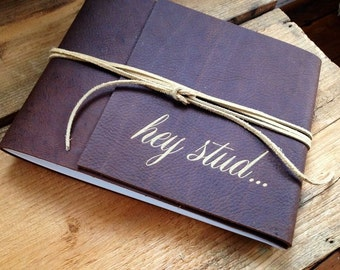 Leather Bound Boudoir Book