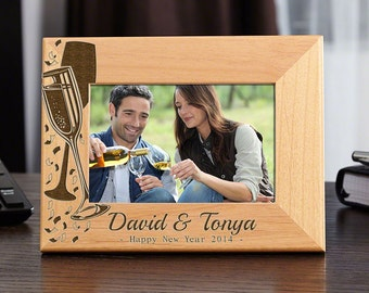A Timeless Toast Customized Photo Frame - Anniversary Gift, New Years Eve Wedding