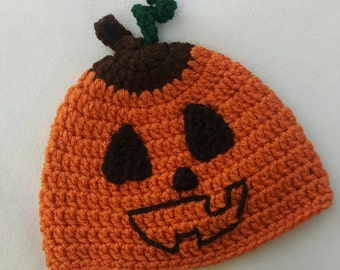 Jack O Lantern crocheted hat