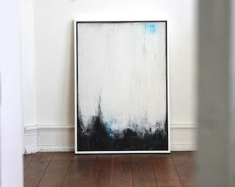 "Abstract art, acrylic painting, 70 cm x 100 cm title ""Moments"""