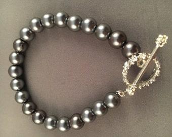 Silver Pearl Beaded Bracelet