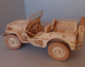 WILLYS MB JEEP model from wood scale 1/6