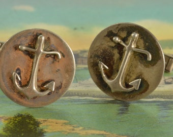 Anchor Cuff Links Sterling Silver 12.8g