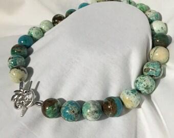 Giant Round Beaded Turquoise Necklace