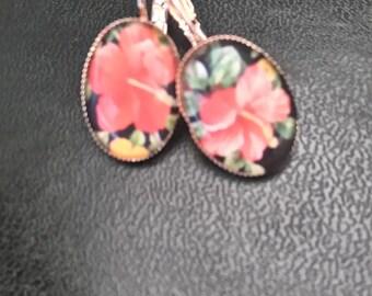 "Vintage pattern ""flower"" earrings"