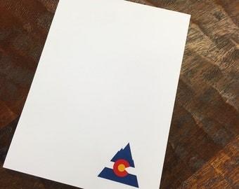 Colorado Mountain Notepad