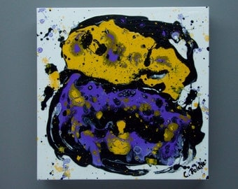 Purple/Yellow Abstract Painting, Abstract Painting, Acrylic Painting, Colorful Art, Purple Painting, Yellow Painting, Colorful Painting