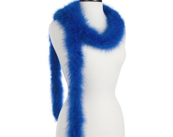 Sapphire - Royal Blue 25 Gram Marabou Feather Boas - Use as Trim or Wear as a Scarf