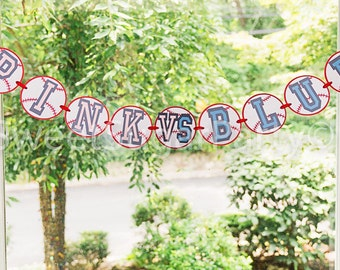 Baseball gender reveal banner