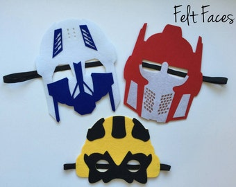 SET OF 6 Transformer Party Mask, Transformer Party Decorations, Transformer Party, Transformer Party Favors, Transformer Birthday Banner