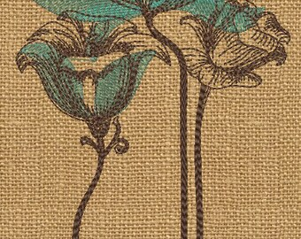 MACHINE EMBROIDERY DESIGN -Retro-floral