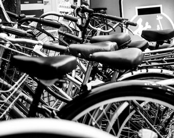 Tokyo Bikes Photograph Digital Print