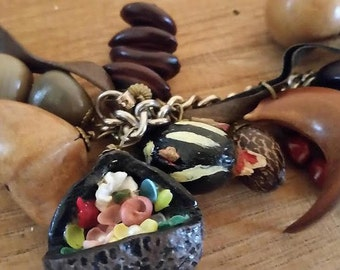 Mixed Nuts Costume Necklace