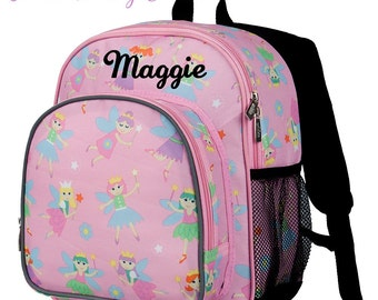 Personalized Backpack for Girls. Fairy Princess Collection. Monogrammed Fairy Princess Backpack. Preschool Backpack. Daycare Backpack. 236