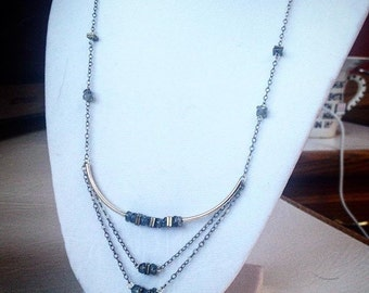 Labradorite Layer Necklace