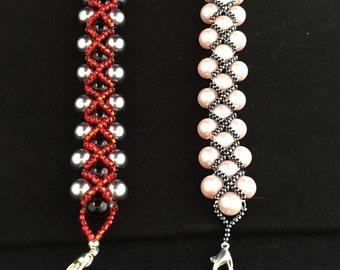 Diamond shape beaded bracelet