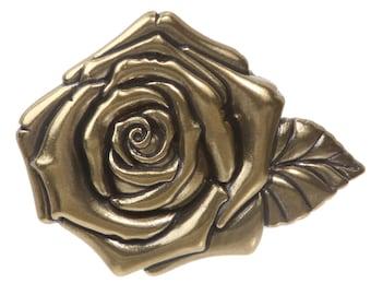 3D Rose Belt Buckle (7673)