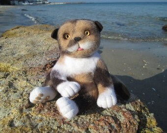 Cat VASILIY, Needle Felted toy