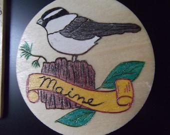 Maine Chickadee Magnet