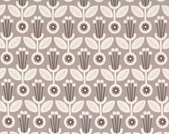 Deco Floral Grey - Grey Abbey - Cloud9 Fabrics - Organic Cotton - Poplin by the Yard