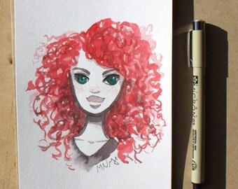 Original Painting - Redhead