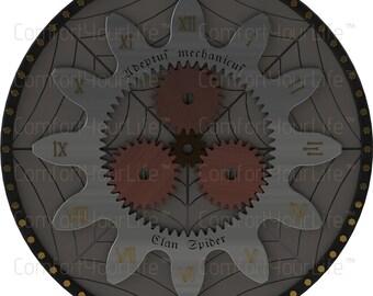 Warhammer 40K Printable Clock Face Golden Numerals Digital Image Instant Download