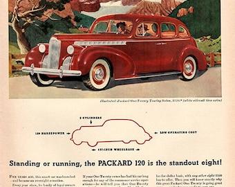 1940 Packard 120 Original Car Print Ad