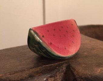 Vintage Americana Watermelon Slice Salt and Pepper Shaker  | Made in Japan