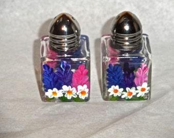 Lupine Tiny Salt & Pepper, lupine art, lupine, Maine art, lupine salt shakers, lupine mini salt shakers