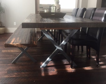 Metal Table Legs Industrial X Frame Style