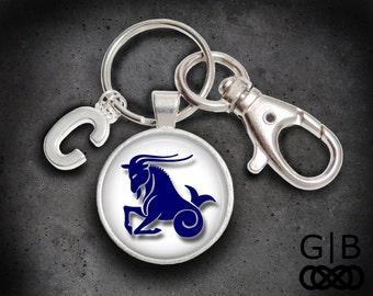 Capricorn Keychain January Birthday Keychain - Capricorn December Birthday Keychain - Capricorn keyring accessory December Keyring Keychain