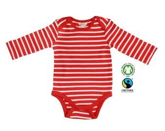 organic cotton baby boy bodysuit, long sleeve, organic cotton toddler boy bodysuit (size 0-24 month)