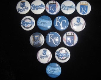 KC Royals Buttons - Set of 15