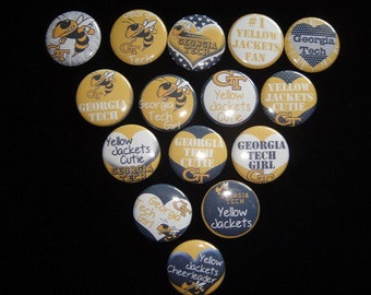 Georgia Tech Yellow Jackets Buttons Set of 15