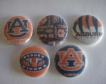 Auburn Tigers Buttons Set of 15 - 3 of Each