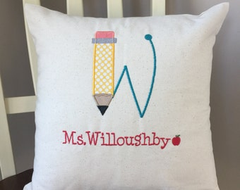 Teacher Gift Pillow Cover Personalized