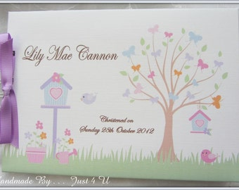 Personalised Baby Christening *NAMING DAY * Baptism/  Guest Book / PHOTO Scrapbook Album