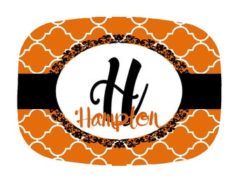 Monogrammed Halloween Platter - Personalized with Family Name