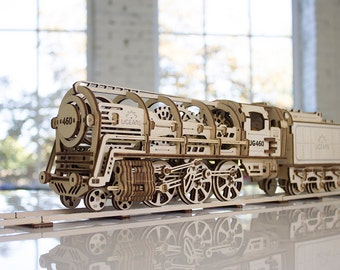 UGears - 460 Steam Locomotive with tender 3D puzzle