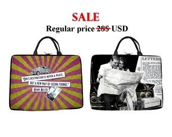"""SALE, Laptop Bag 14"""", Laptop Case, Notebook Bag, Bag for netbook, laptop sleeve, Laptop Sleeves, gift to friend, Bag Case for Laptop"""