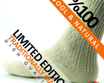 """Valentines Day Special Gifts """"Limited Edition"""" Pair of Thick Pure Knitted Lambswool Thermal Warm Wool Woolen Socks"""