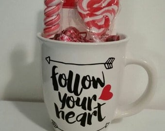 Follow You Heart Coff Cup w/ Candy