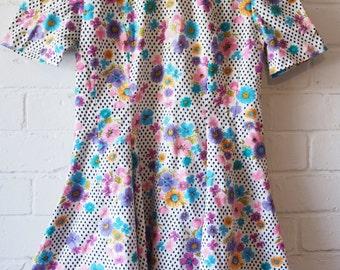 Swingin' 60s mini dress floral print  Size S