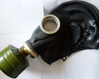RUBBER Gas mask GP-5 russian black soviet military new, size 0,1,2,3,4
