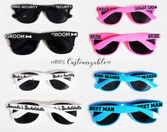 Custom Kids and Adult Sized Sunglasses You Choose the Text and Colors!