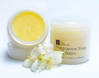 Fragrance free balm. Natural unscented moisturising for sensitive skin, hand and body.  Preservative free 50ml