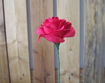 Rosa roja | Red rose - Crepe Paper