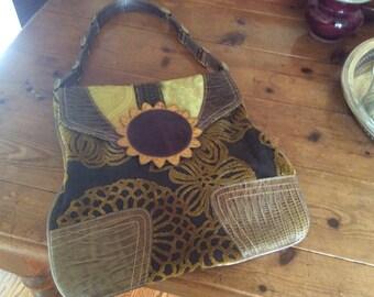 Gorgeous Vintage Sunflower Handbag