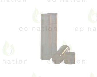 Empty Lip Balm Tubes - Clear - Pack of 12 - High Quality